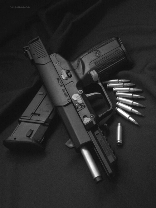 Five-seveN with armor piercing rounds